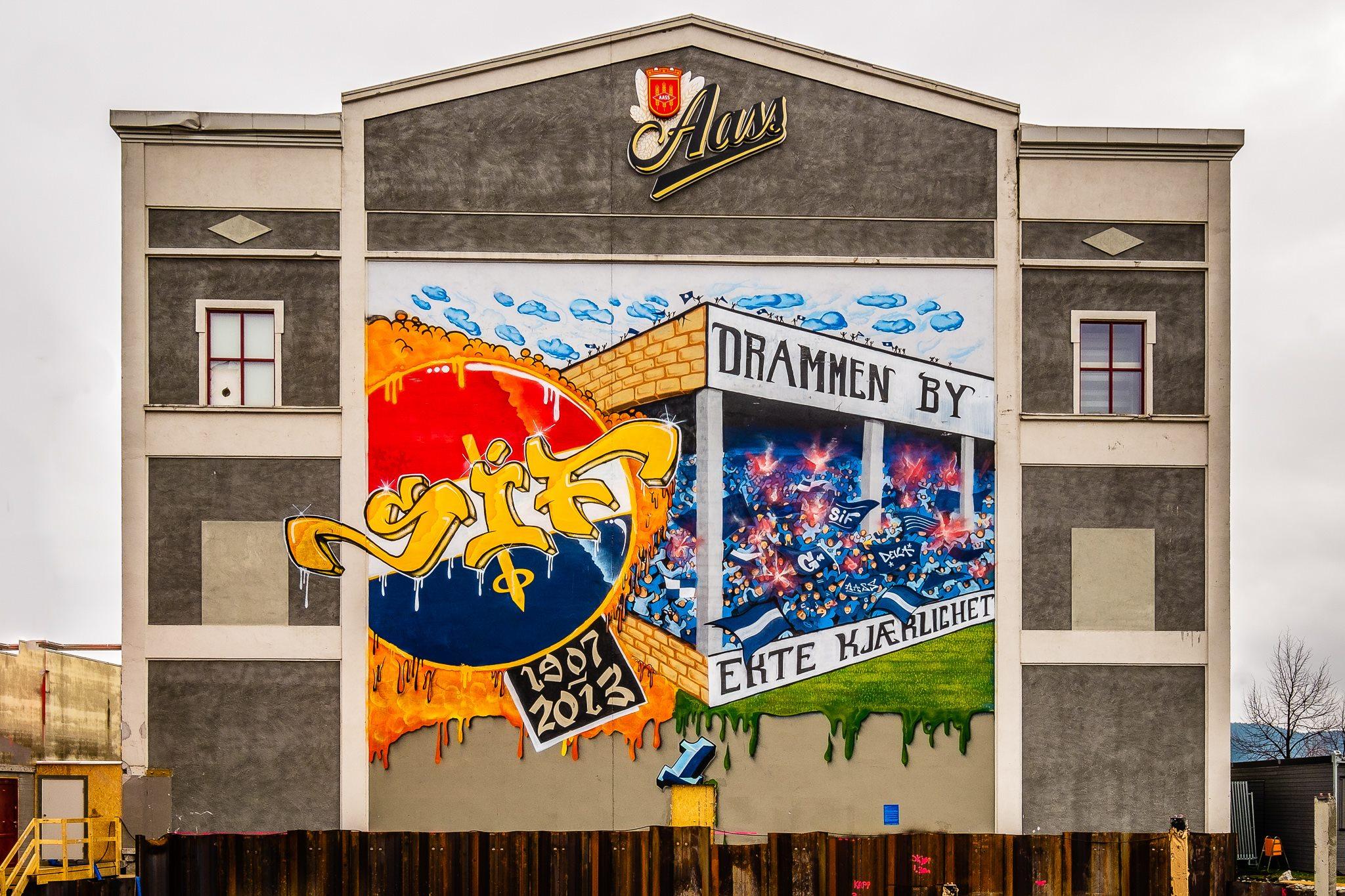 Veggmaleri på Aass bryggeri